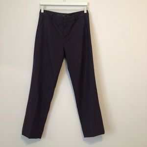 Purple/burgundy soft straight leg trousers